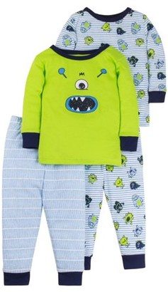 Little Star Organic Cotton Tight Fit Pajamas, 4-piece Set (Baby Boys & Toddler Boys)