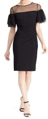 Lauren Ralph Lauren Sheer-Yoke Jersey Dress