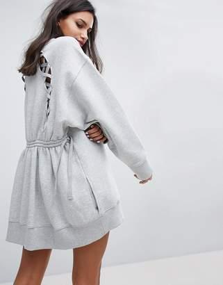 Tommy Hilfiger Gigi Hadid Lace Back Sweat Dress