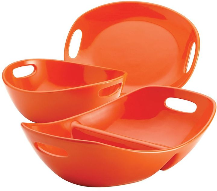 Rachael Ray 3-pc. orange serveware set
