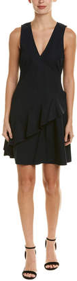 Derek Lam 10 Crosby Asymmetrical Ruffle A-Line Dress