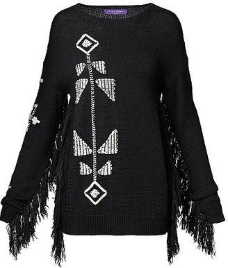 Ralph Lauren Fringed Silk-Blend Sweater $1,990 thestylecure.com
