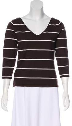 Ralph Lauren Black Label Silk Striped Sweater