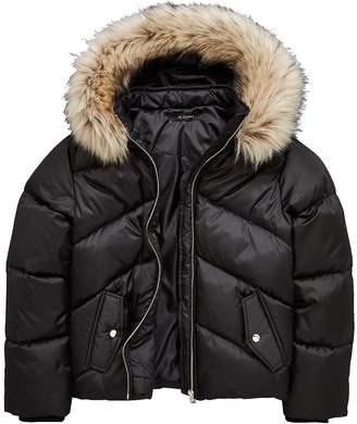 Very Girls Short Black Padded Coat