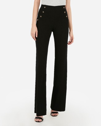 Express High Waisted Button Front Wide Leg Pant