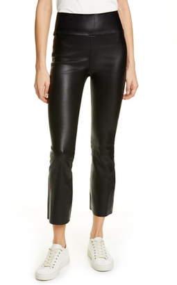 Sprwmn Crop Flare Leather Pants