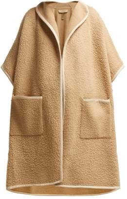 Burberry Chloe Pilled Wool Cape - Womens - Beige