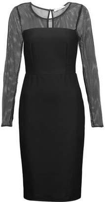 Max Mara Mesh-Paneled Wool-Blend Ponte Dress