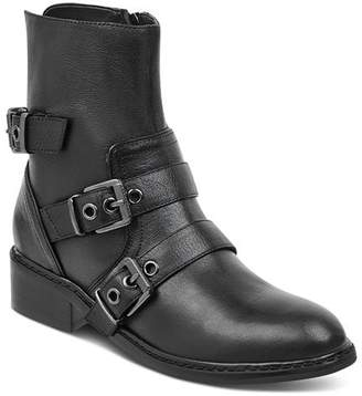 KENDALL + KYLIE Women's Nori Round Toe Leather Low-Heel Booties