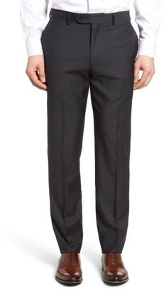 Men's Bensol Pin Dot Wool Trousers $165 thestylecure.com