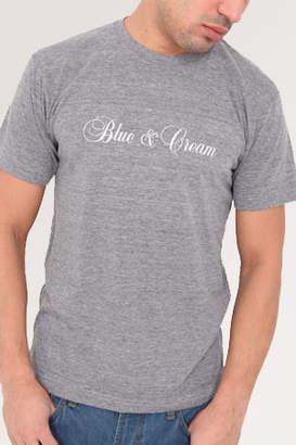 Blue & Cream Blue&Cream Private Label Heather Grey Tee with Italic Logo