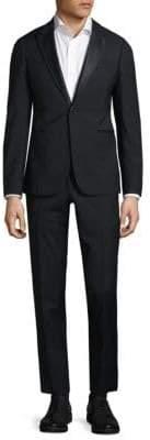 Armani Collezioni Modern Fit Peak Lapel Wool Tuxedo