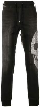 Philipp Plein denim effect track pants