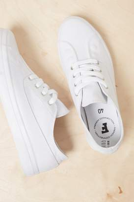 French Connenction Alex Rubber Canvas Eyelet Trainers