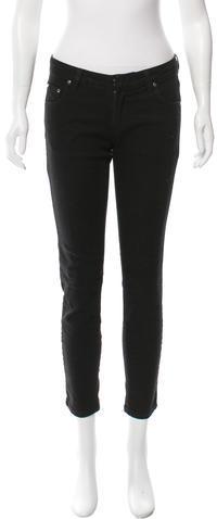 BalmainPierre Balmain Straight-Leg Lace-Up Jeans w/ Tags