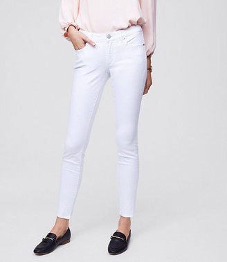 LOFT Petite Curvy Slim Pocket Skinny Jeans in White