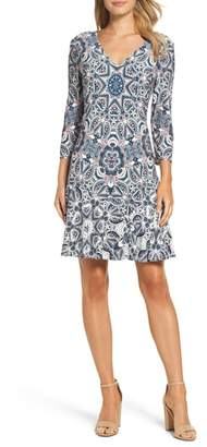 Eliza J Print Knit Dress