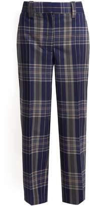 Trea straight-leg checked trousers