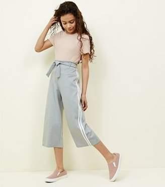 New Look Girls Grey Stripe Side Culottes