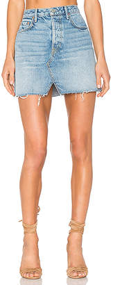 GRLFRND x REVOLVE Milla Denim Mini Skirt $158 thestylecure.com