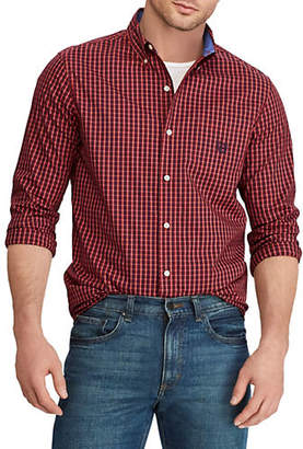 Chaps Big and Tall Easy Care Long-Sleeve Sport Shirt
