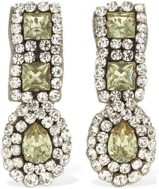 Moschino Crystal Pendant Clip-on Earrings
