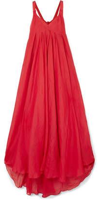 Three Graces London - Janie Cutout Ramie Maxi Dress - Red