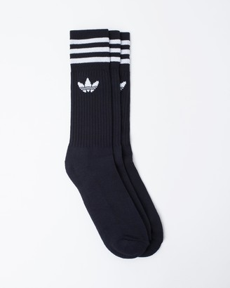 adidas Solid Crew Socks 3 Pack