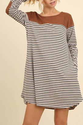 Umgee USA Stripe Pocket Dress
