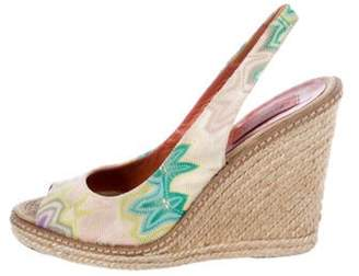 Missoni Slingback Wedge Sandals Lime Slingback Wedge Sandals
