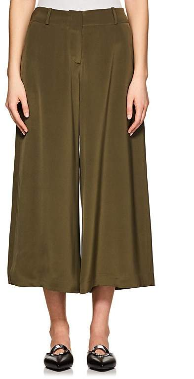 Ji Oh WOMEN'S MERCER SILK WIDE-LEG PANTS