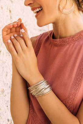 francesca's Lizzy Magnetic Wrap Bracelet - Gold