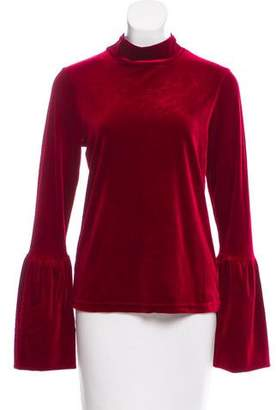 Torn By Ronny Kobo Velvet Mock Neck Top