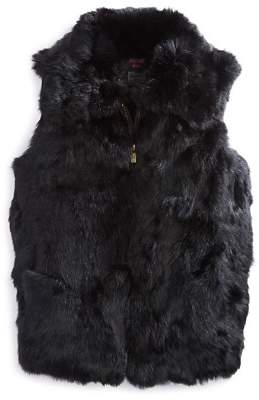 Surell Girls' Collared Fur Vest - Big Kid