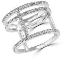 Effy Diamond and 14K White Gold Triple Ring