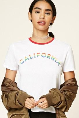 Forever 21 FOREVER 21+ California Rainbow Tee