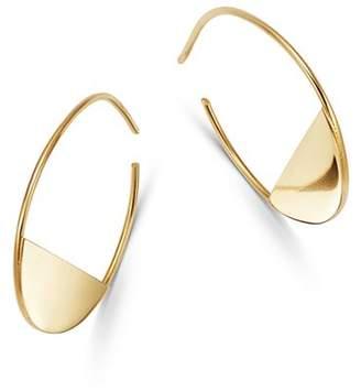 Moon & Meadow 14K Yellow Gold Half Circle Hoop Earrings - 100% Exclusive