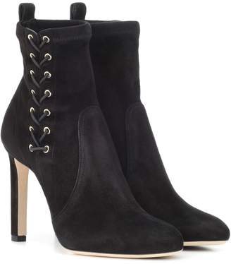b831460a7f8 Jimmy Choo Black Suede Ankle Boots For Women - ShopStyle UK