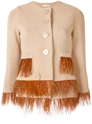 Charlott feather embellished jacket