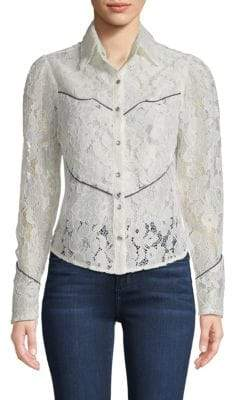 Lace Western Blouse