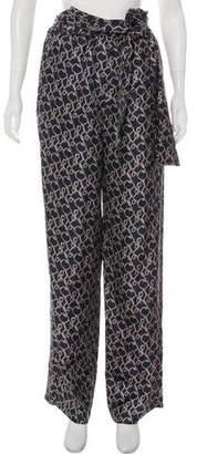 3.1 Phillip Lim Printed High-Rise Wide-Leg Pants w/ Tags