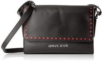 Armani Jeans Eco Leather Crossbody with Perforated Details