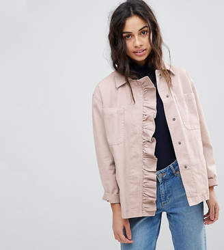 Asos Shacket With Frill Detail