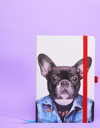 Mustard Frenchie Dog A5 Notebook