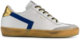 Leather Crown colour block sneakers