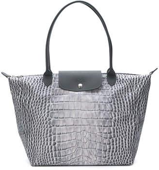 Longchamp snakeskin print tote bag