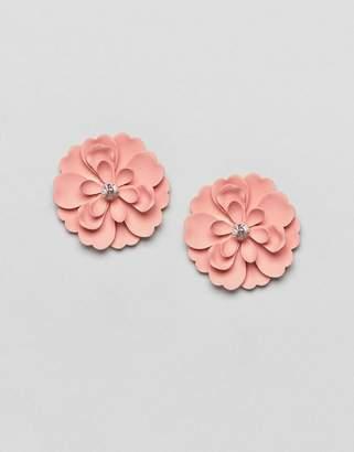 Asos Matte Jewel Flower Stud Earrings