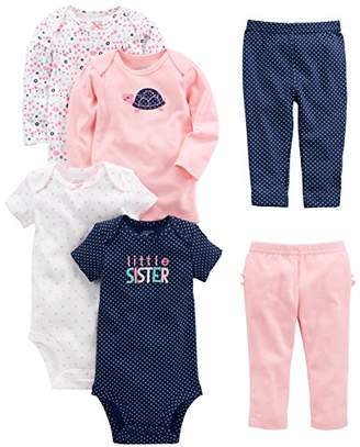 Carter's Simple Joys by Baby Girls' 6-Piece Little Character Set