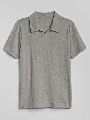 Gap Split-Neck Polo Shirt
