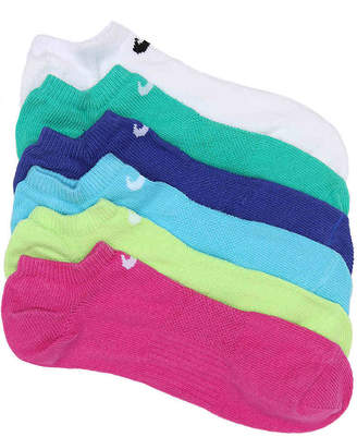 Nike Cush Performance No Show Socks - 6 Pack - Girl's